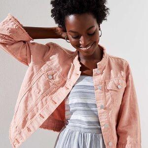Loft Cropped Linen Blend Jacket